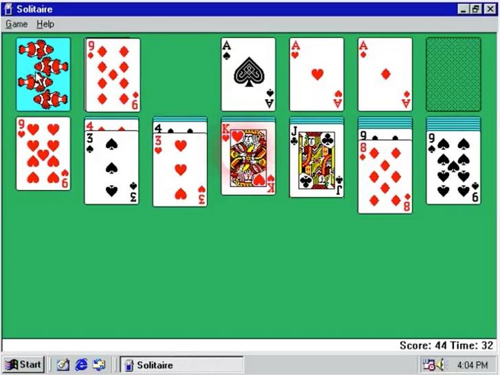 pasziánsz klasszikus játék 1 kártyával ingyenes   koolsol - Program pasziánsz