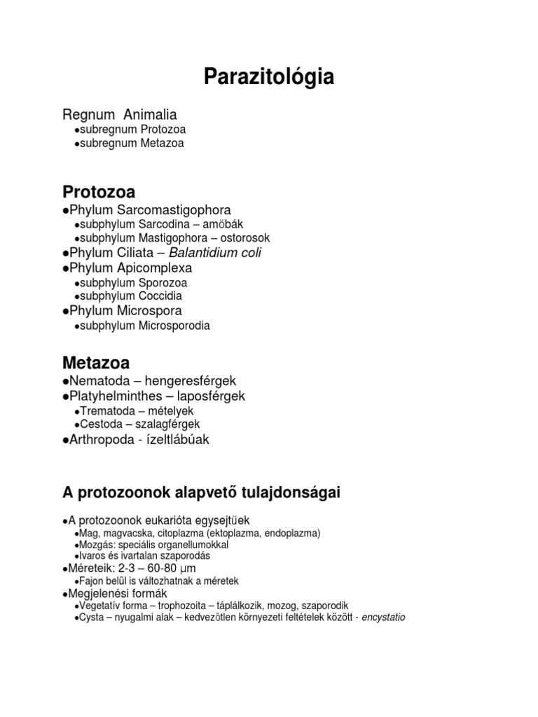 nem specifikus paraziták milyen gyógyszereket kell venni a férgek megelőzésére