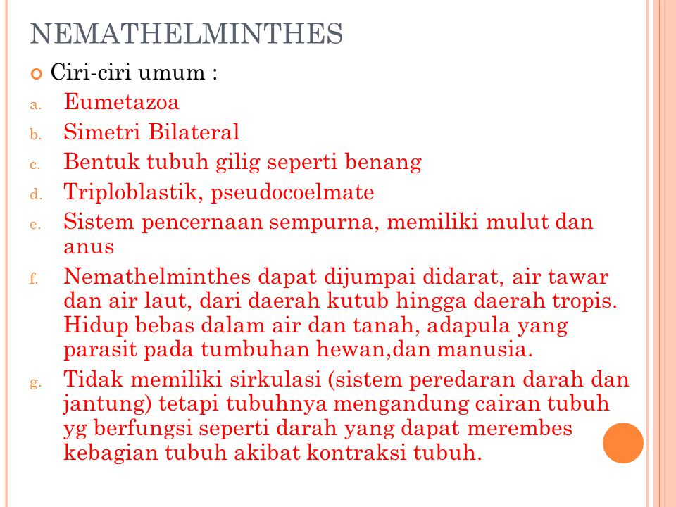 Dasar klasifikasi nemathelminthes, TK - PDF Free Download